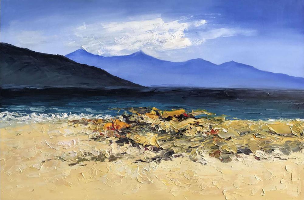 Картина маслом  Берег моря - 2