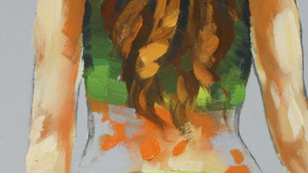 Картина маслом  Пляжный волейбол