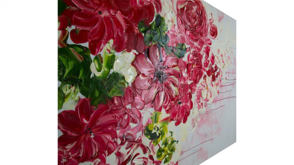Картина маслом Дивные цветы 90*120 см.