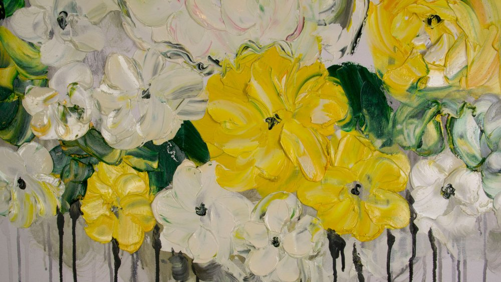 КАРТИНА МАСЛОМ Пионы цветут 90*120 см.