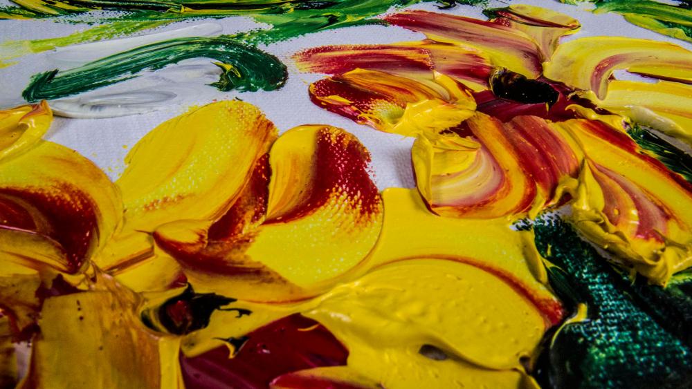 КАРТИНА МАСЛОМ Летние цветы 90*120 см.