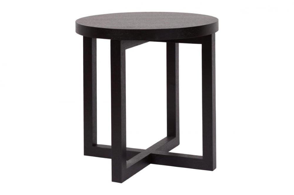 Кофейный столик Eastridge BlackКофейные и журнальные столы<br>Эксклюзивный и необычный кофейный столик <br>Eastridge станет изюминкой любого интерьера <br>спальни или гостиной. Его столешница чёрного <br>цвета в форме круга выполнена из прочной <br>МДФ, а ножки, которые представляют собой <br>два перпендикулярно расположенных квадрата, <br>— из дерева. Кофейный стол будет уместен <br>в любом помещении, и все благодаря своей <br>компактности и функциональности. Этот кофейный <br>столик настолько стильный и уютный, что <br>так и хочется отложить дела в сторону и <br>выпить чашечку кофе, и почитать любимый <br>журнал или книгу.<br><br>Цвет: черный<br>Материал: деревянный каркас, мдф столешница<br>Вес кг: 12<br>Длина см: 48,5<br>Ширина см: 48,5<br>Высота см: 48,5