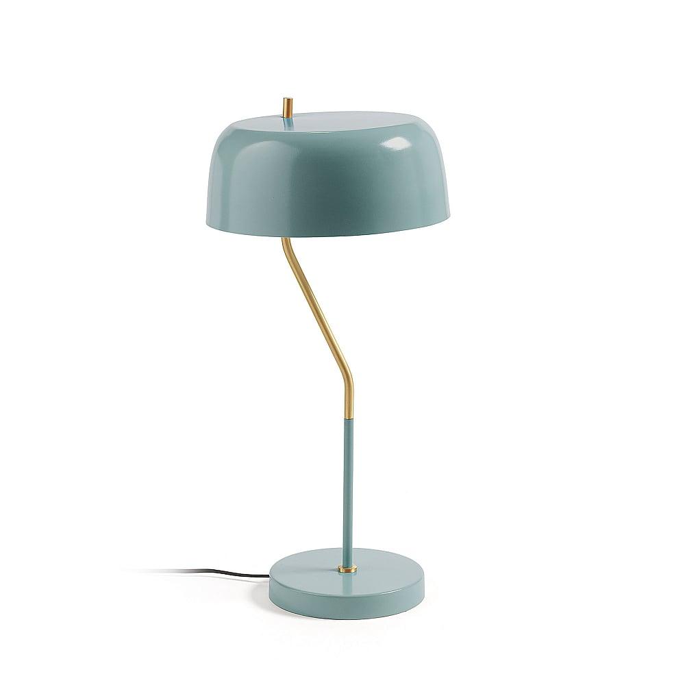 Настольная лампа Versa металлическая голубая