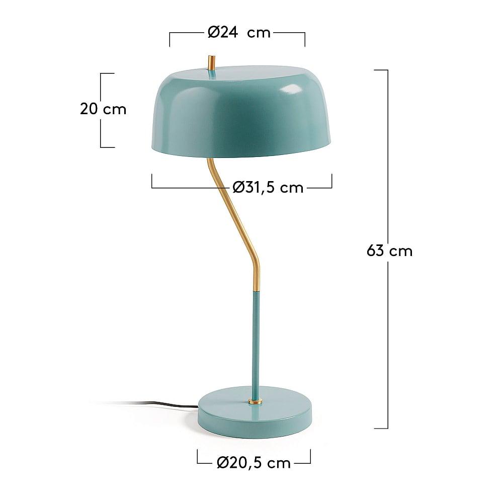 Настольная лампа Versa металлическая голубая от La Forma (ex Julia Grup)
