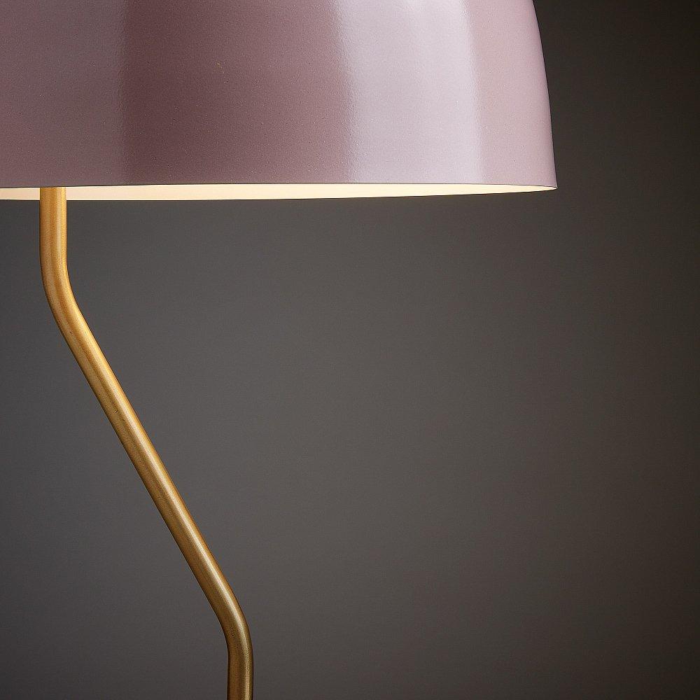 Настольная лампа Versa металлическая светло-розовая