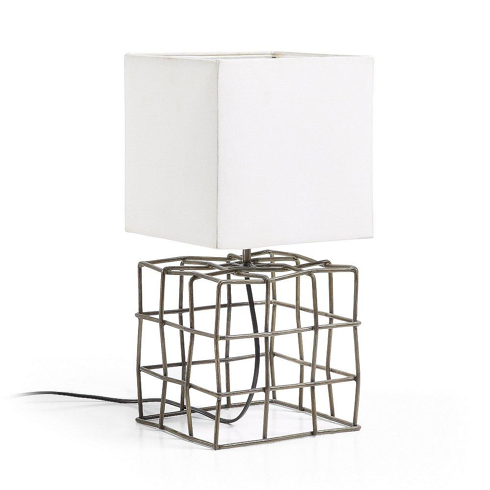 DOHERTI Настольная лампа металлический коричневый оттенок белый AA1446J33