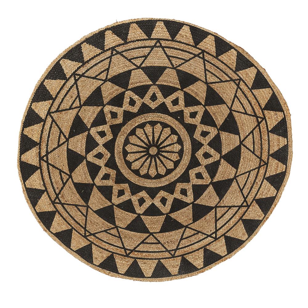CHEER Ковровое джут круглый 150 натуральный черный AA1576FN01