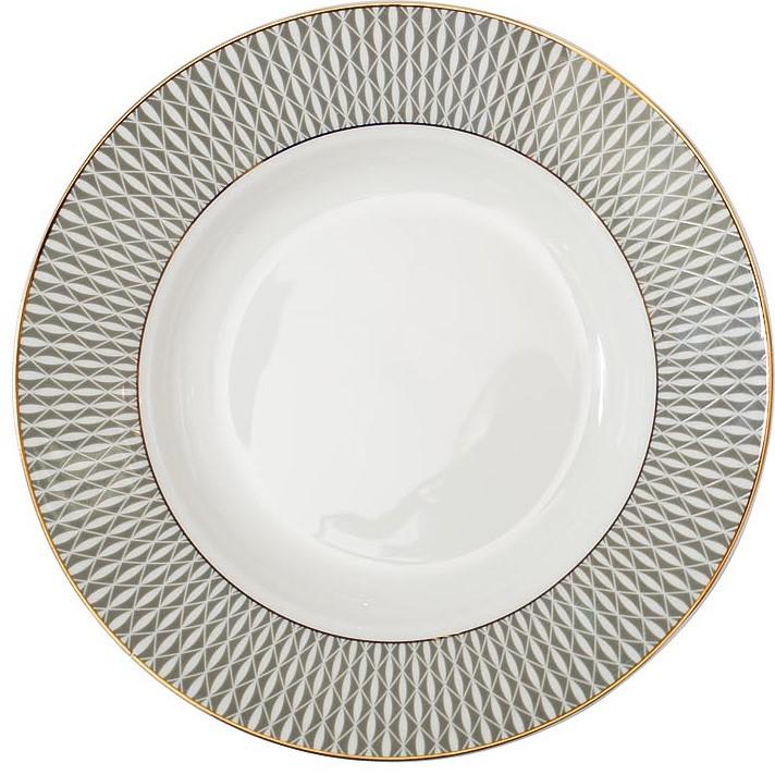 Тарелка суповая 20см серый