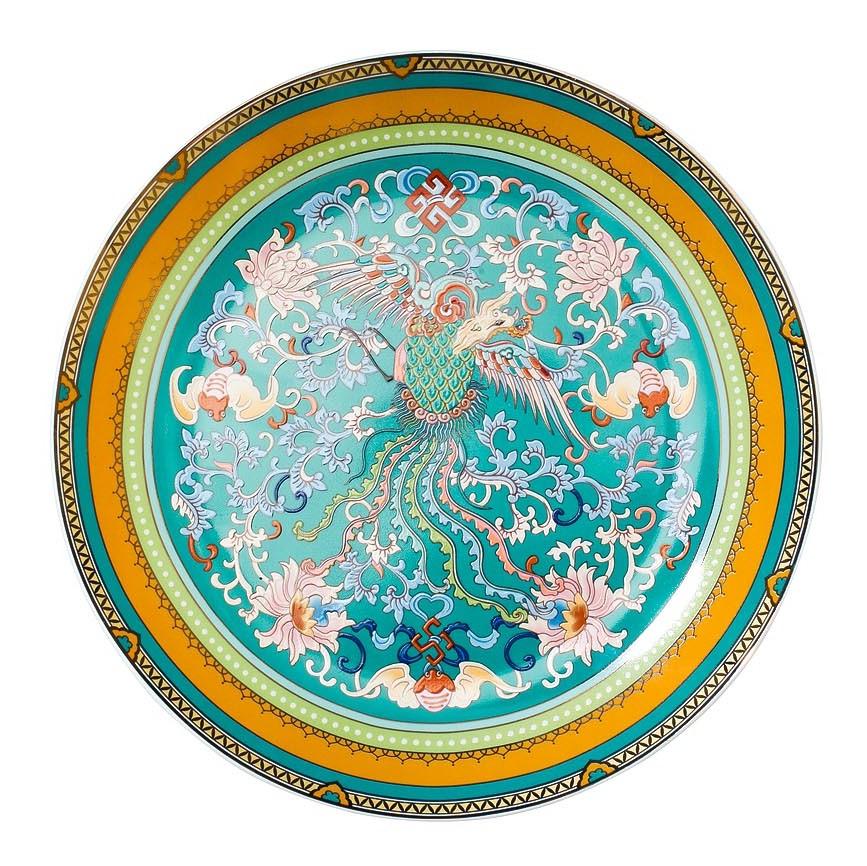 Тарелка десертная 20см голубая