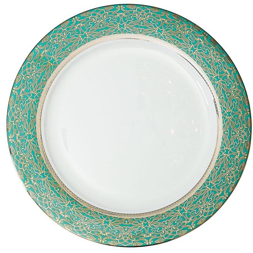 Тарелка обеденная 27 см цвет бирюзовый