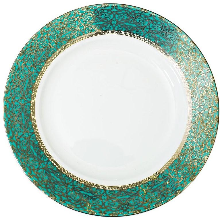 Тарелка десертная 19см цвет бирюзовый