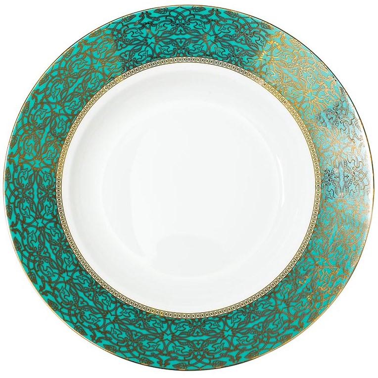 Тарелка суповая 20см цвет бирюзовый