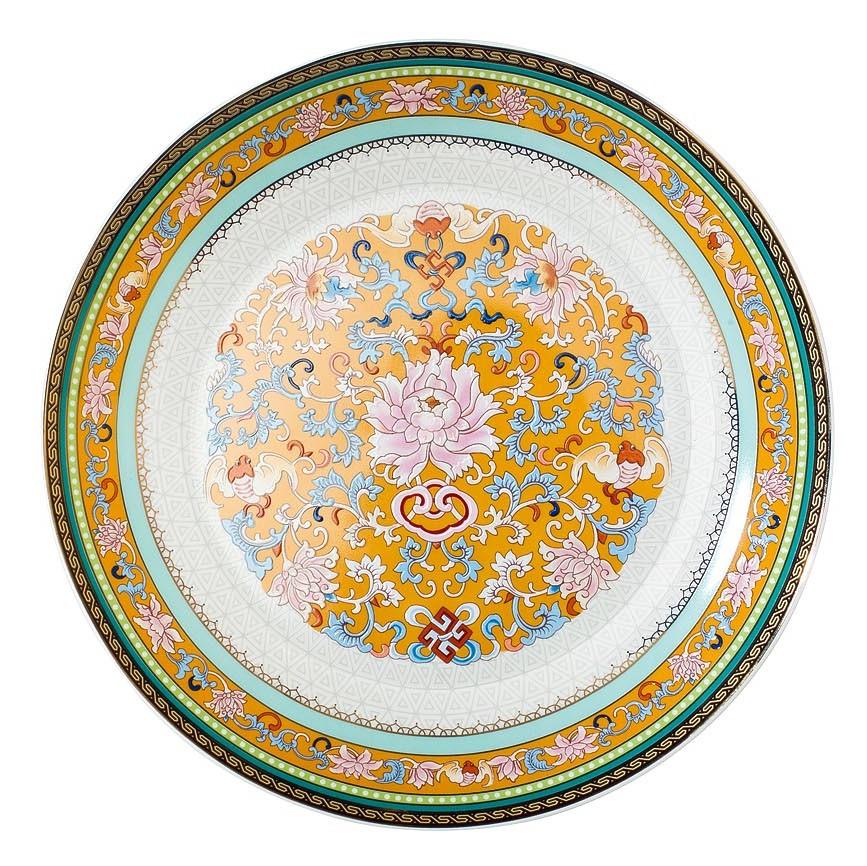 Тарелка десертная 20 см цвет золотистый