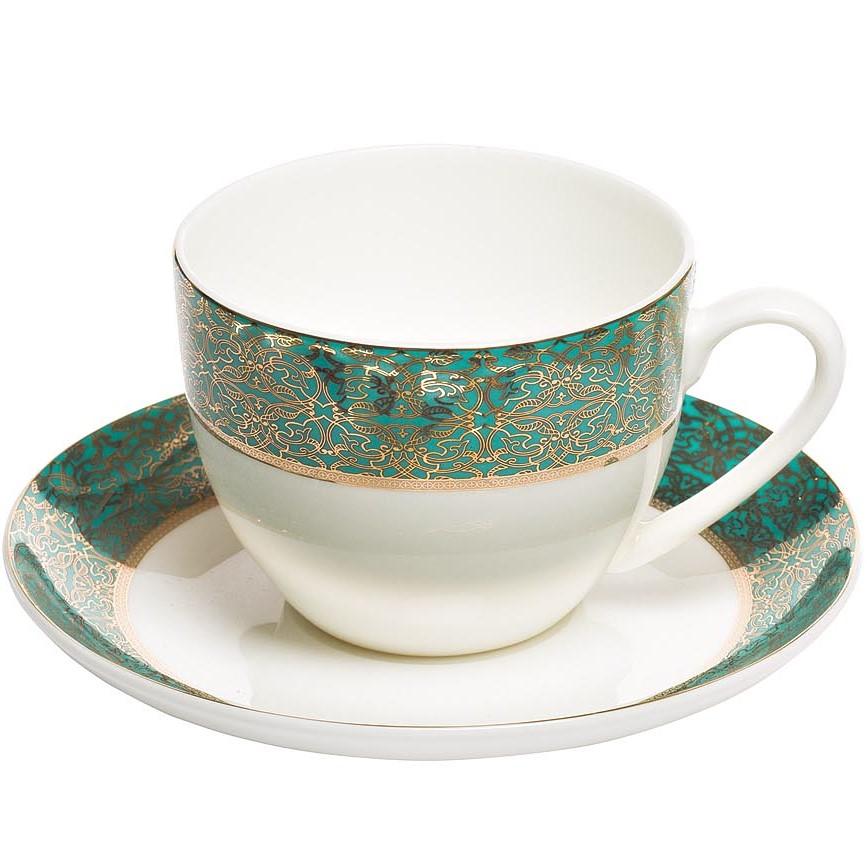 Чайная пара 200мл цвет бирюзовый