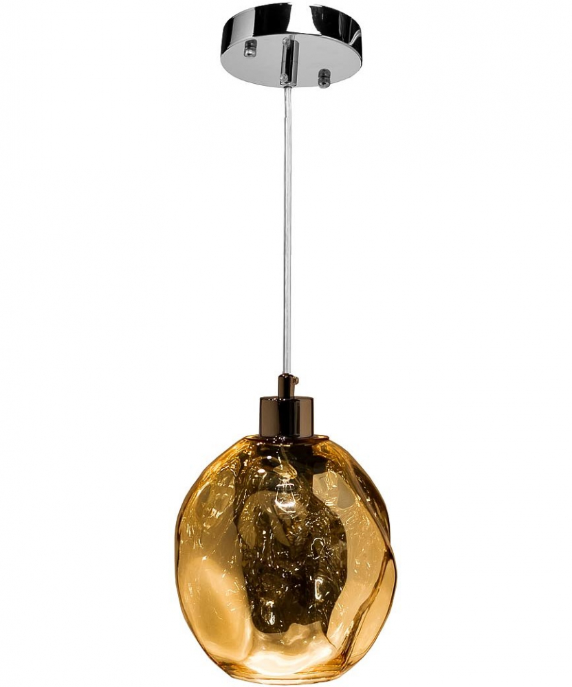 Светильник потолочный цвет шампань  d18*200см
