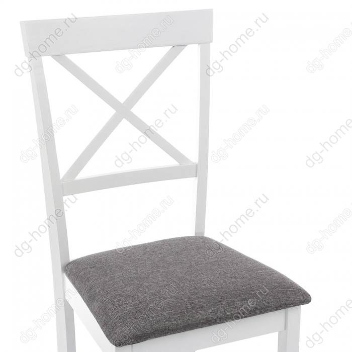 Стул деревянный Shem white / light grey