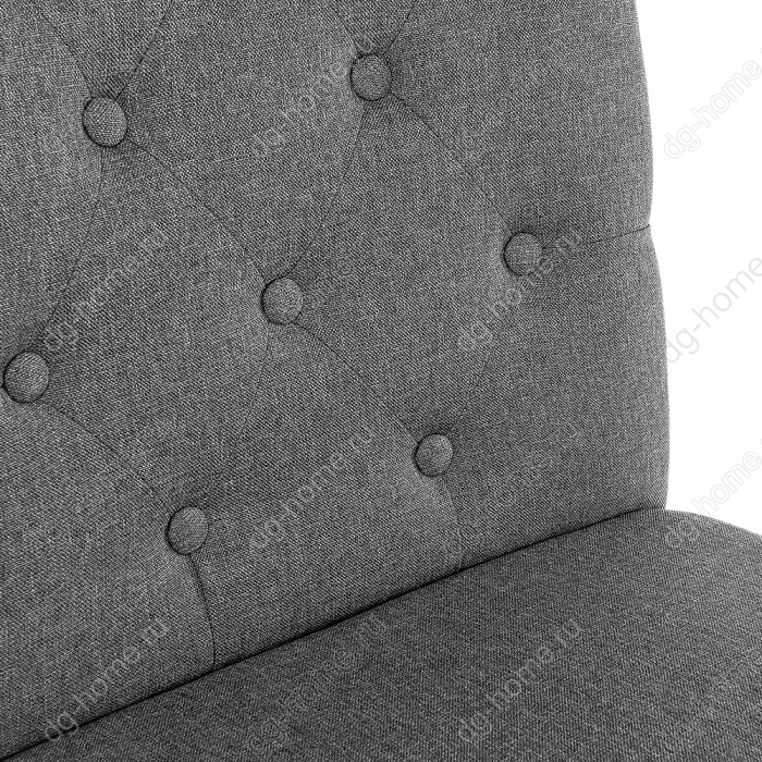 Стул деревянный dark walnut / fabric grey