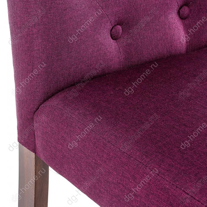 Стул деревянный Amelia dark walnut / fabric purple