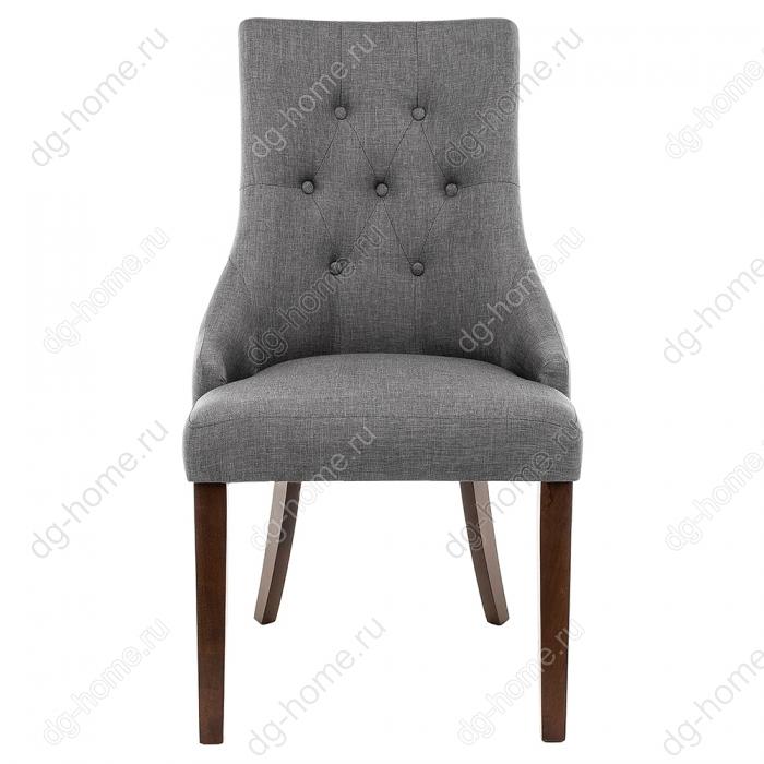 Стул деревянный Elegance dark walnut / fabric grey