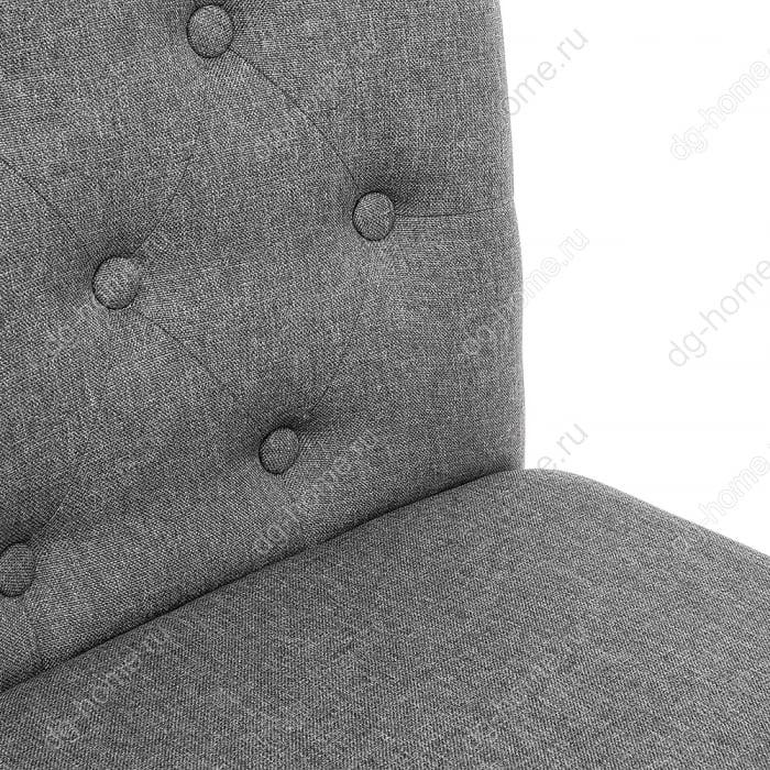 Стул деревянный Amelia dark walnut / fabric grey
