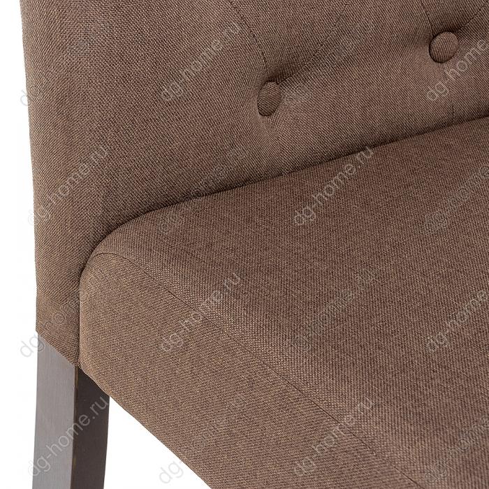 Стул деревянный Amelia dark walnut / fabric brown