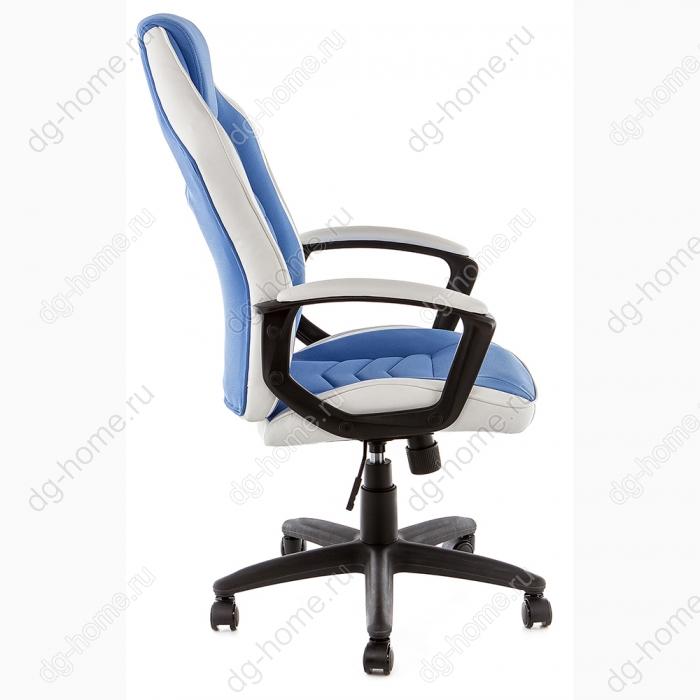 Компьютерное кресло Gamer белое / синее