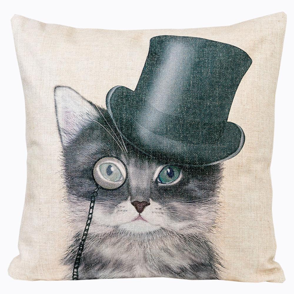 Декоративная подушка «Мисс Монокль»