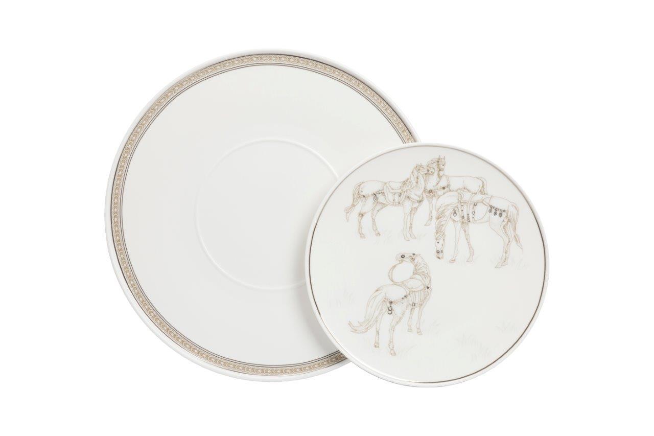 Купить Комплект тарелок Flambee (25.5, 20 см) в интернет магазине дизайнерской мебели и аксессуаров для дома и дачи