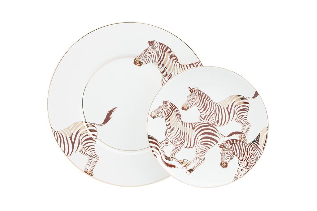 Купить Комплект тарелок Cebra в интернет магазине дизайнерской мебели и аксессуаров для дома и дачи