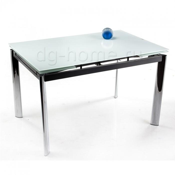 Стол стеклянный Cubo 120 экстра белый