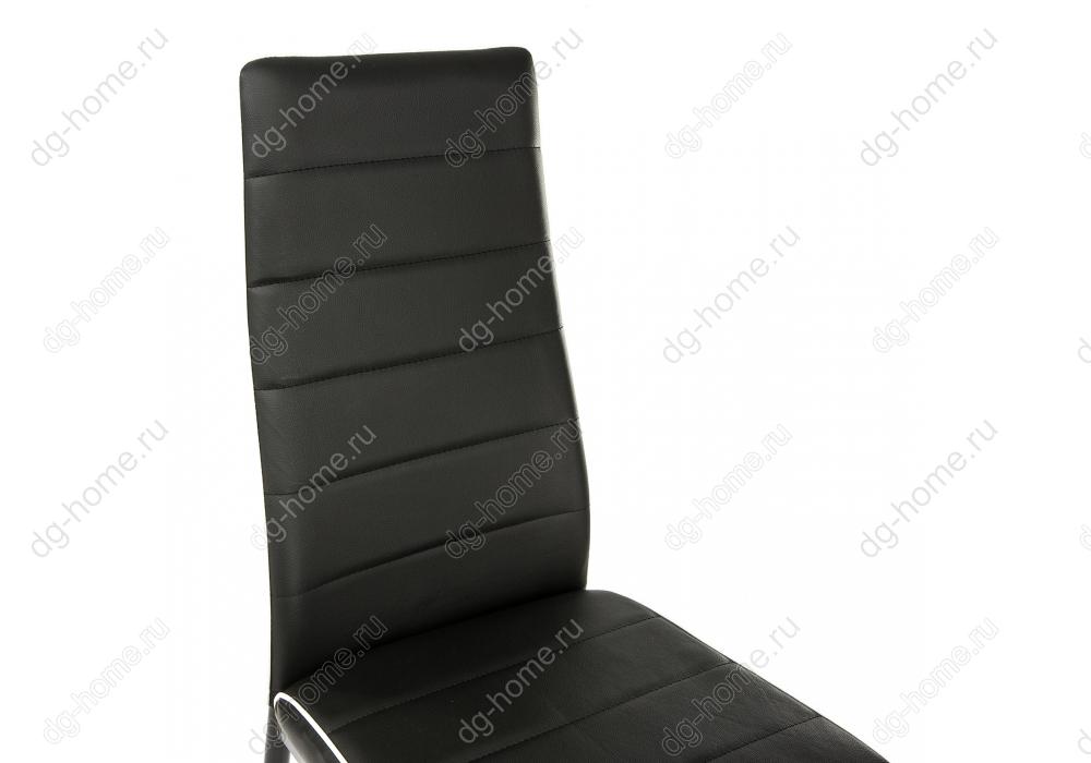 Стул DC2-001 черный с белой окантовкой
