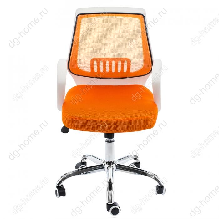 Компьютерное кресло Ergoplus белое / оранжевое