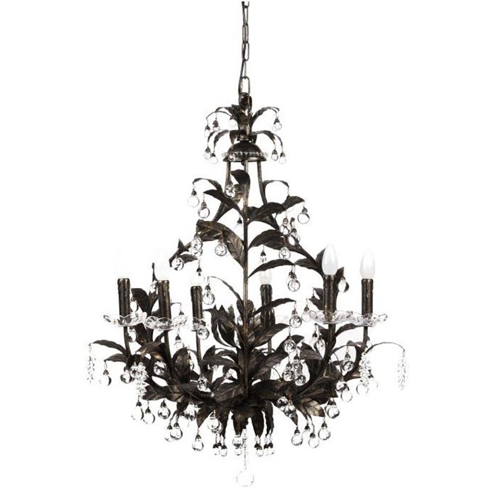 Купить Люстра 19th C. Rococo Iron & Smoke Crystal Round в интернет магазине дизайнерской мебели и аксессуаров для дома и дачи