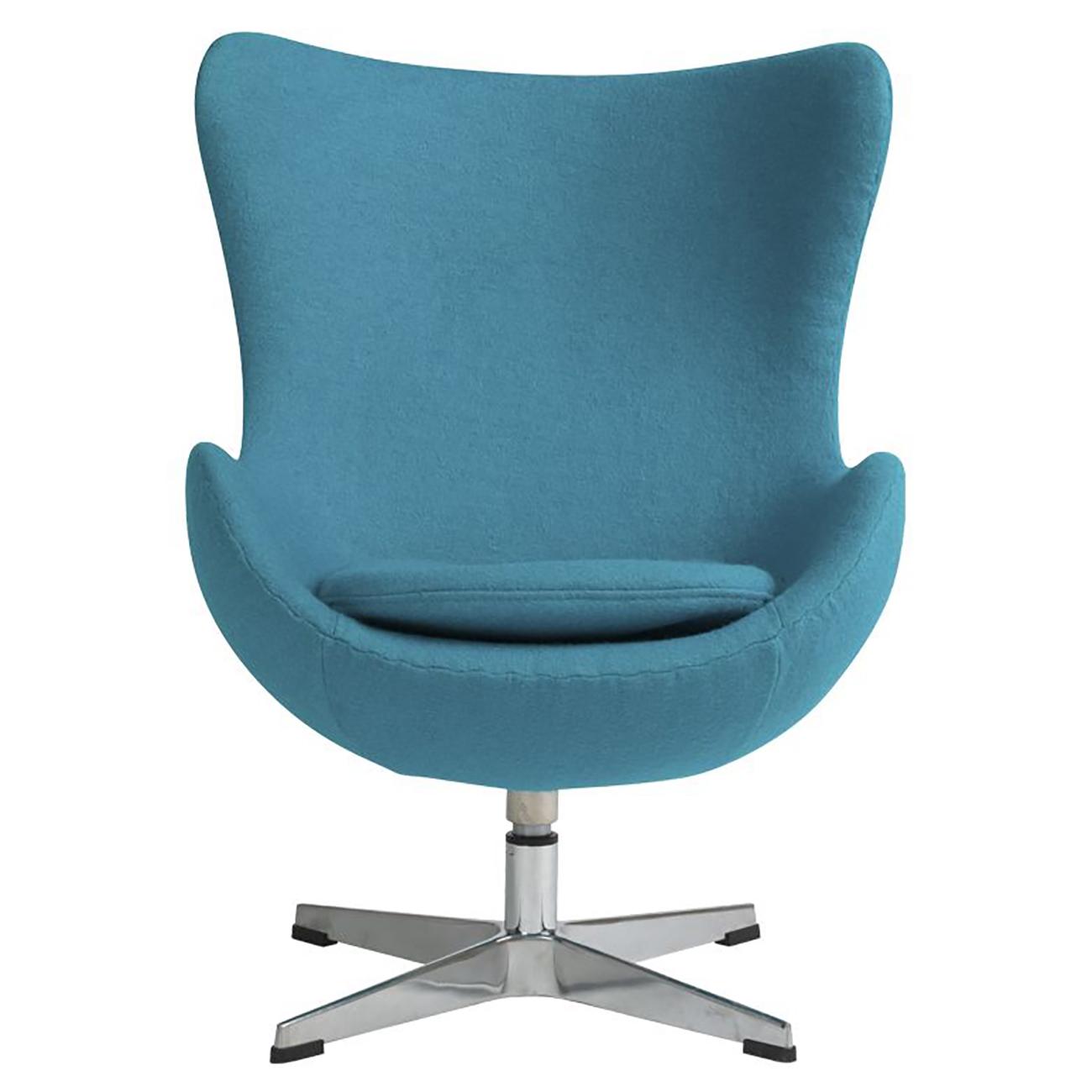 Купить Детское кресло Egg Chair Голубое 100% Шерсть в интернет магазине дизайнерской мебели и аксессуаров для дома и дачи