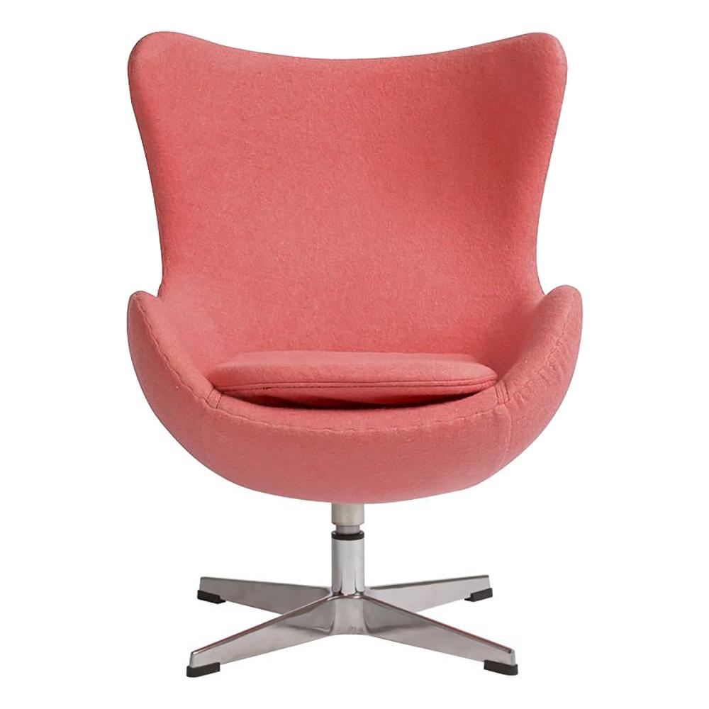 Купить Детское кресло Egg Chair Коралловое 100% Шерсть в интернет магазине дизайнерской мебели и аксессуаров для дома и дачи