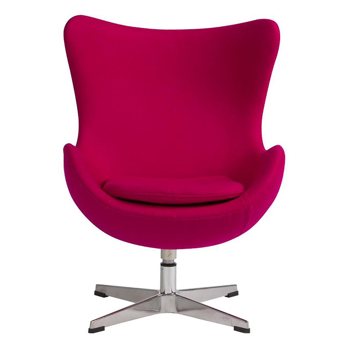 Купить Детское кресло Egg Chair Малиновое 100% Шерсть в интернет магазине дизайнерской мебели и аксессуаров для дома и дачи