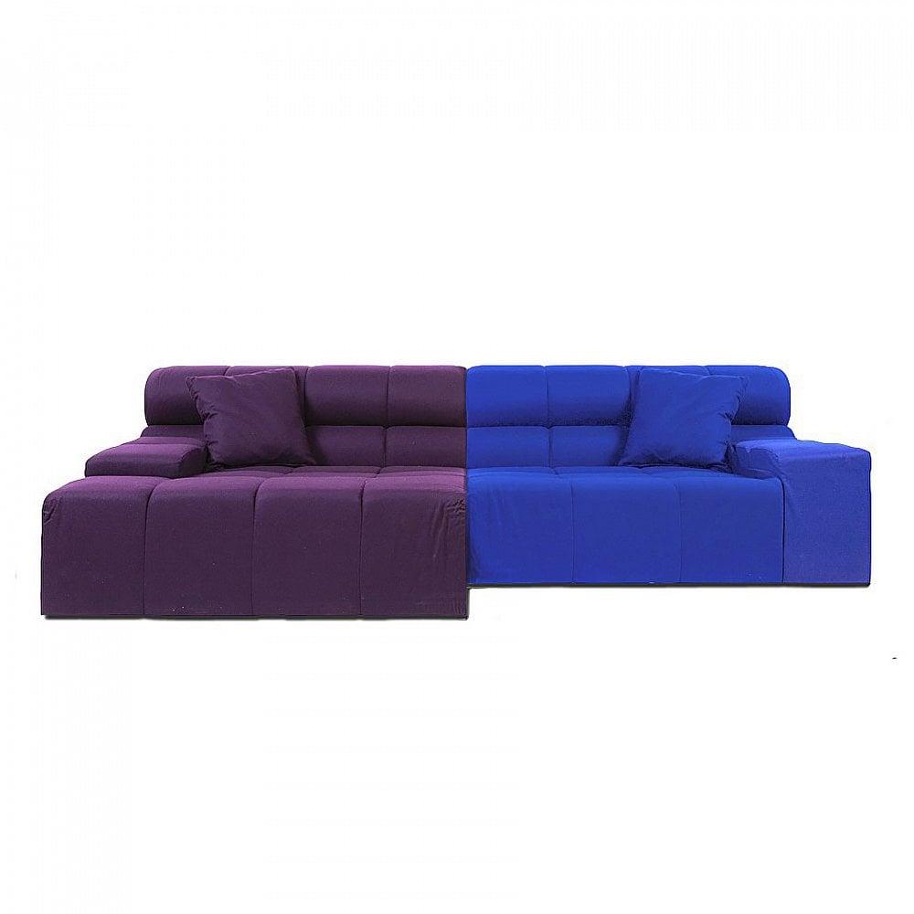 Диван Tufty-Time Sofa Фиолетово-синяя Шерсть