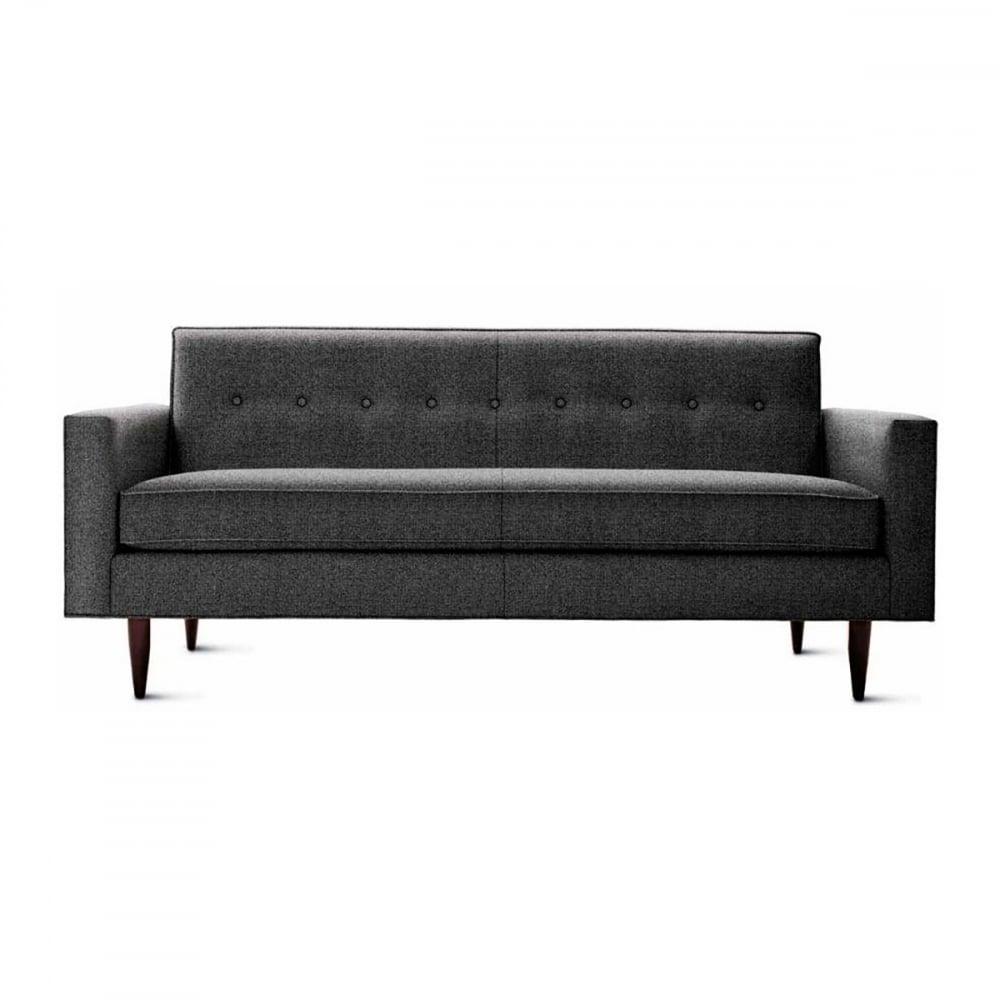 Диван Bantam Sofa Большой Темно-серая Шерсть