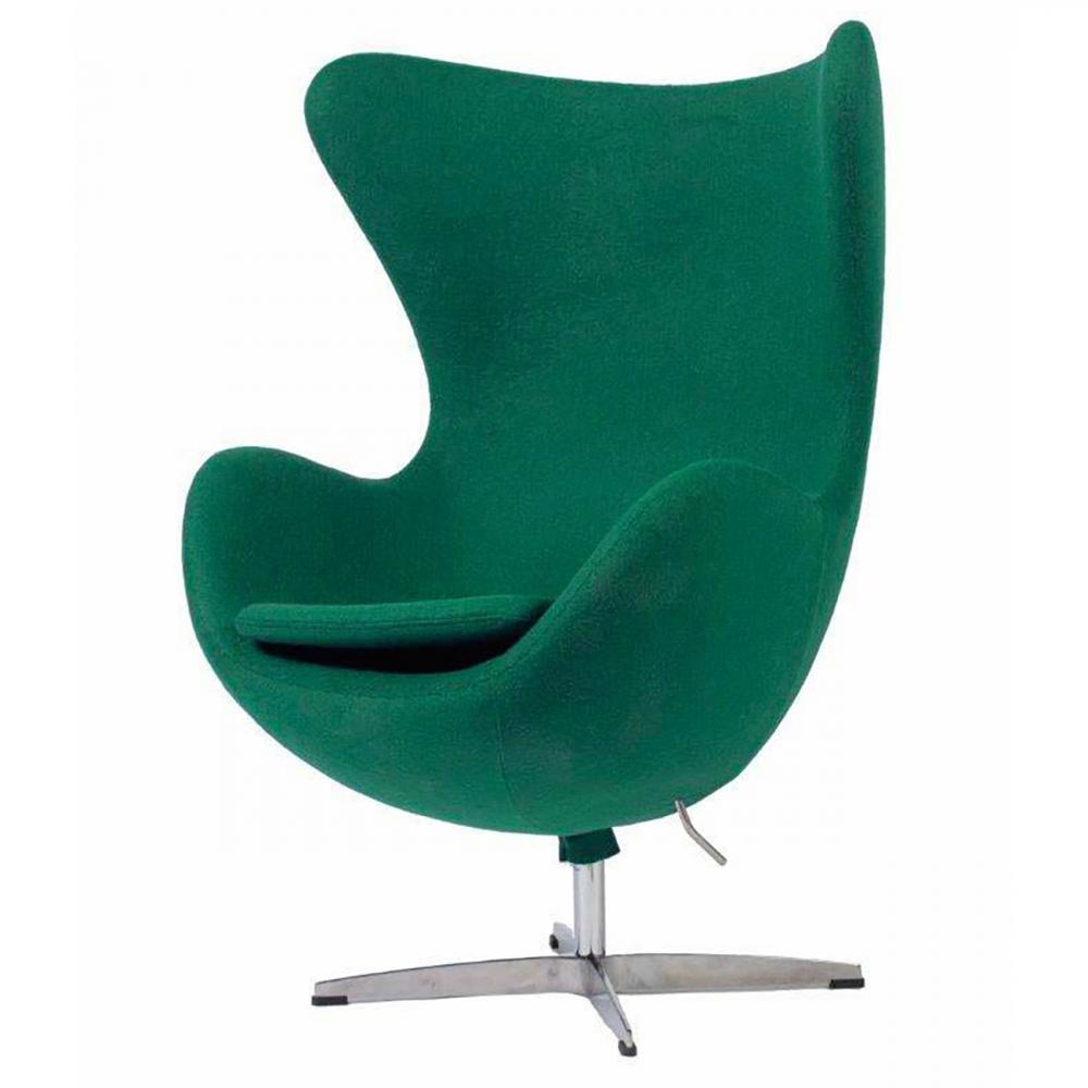 Фото Кресло Egg Chair Зелёно-голубое 100% Шерсть. Купить с доставкой