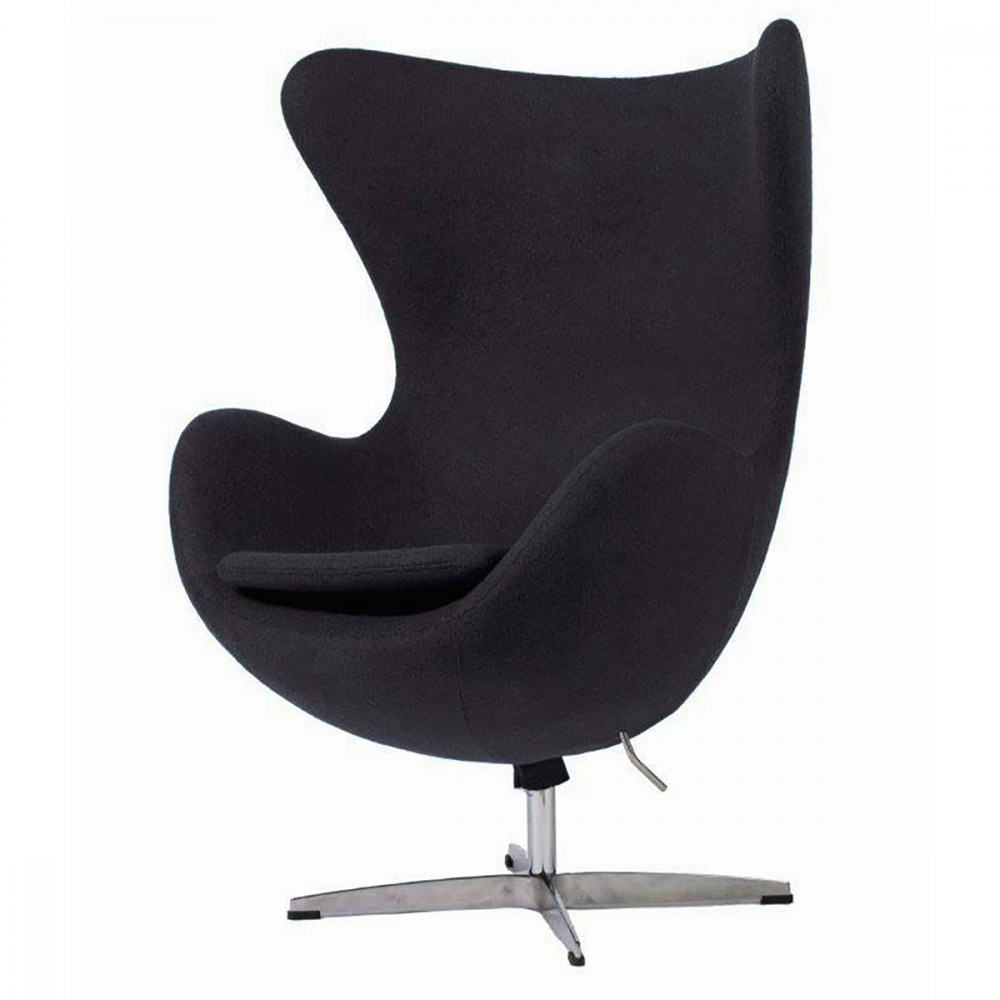Фото Кресло Egg Chair Пепельно-Серое 100% Кашемир. Купить с доставкой