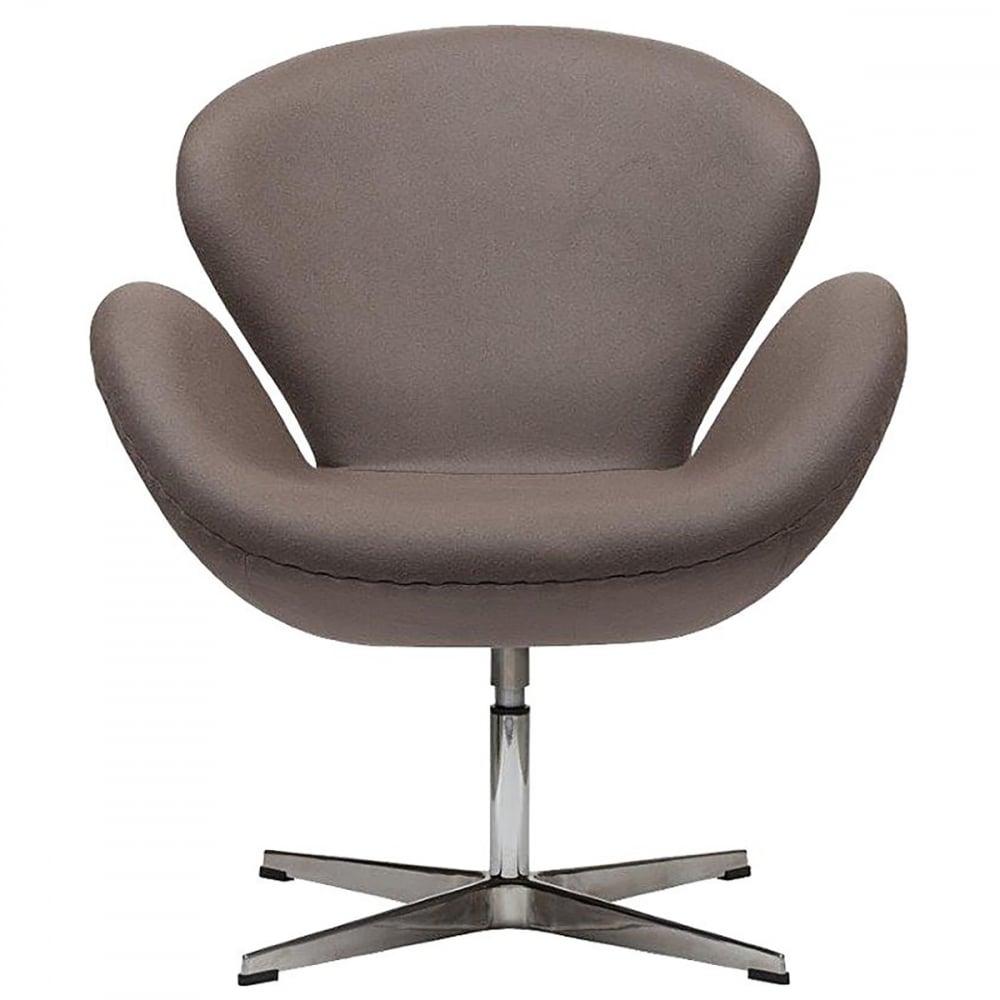 Фото Кресло Swan Chair Серо-коричневая Шерсть. Купить с доставкой