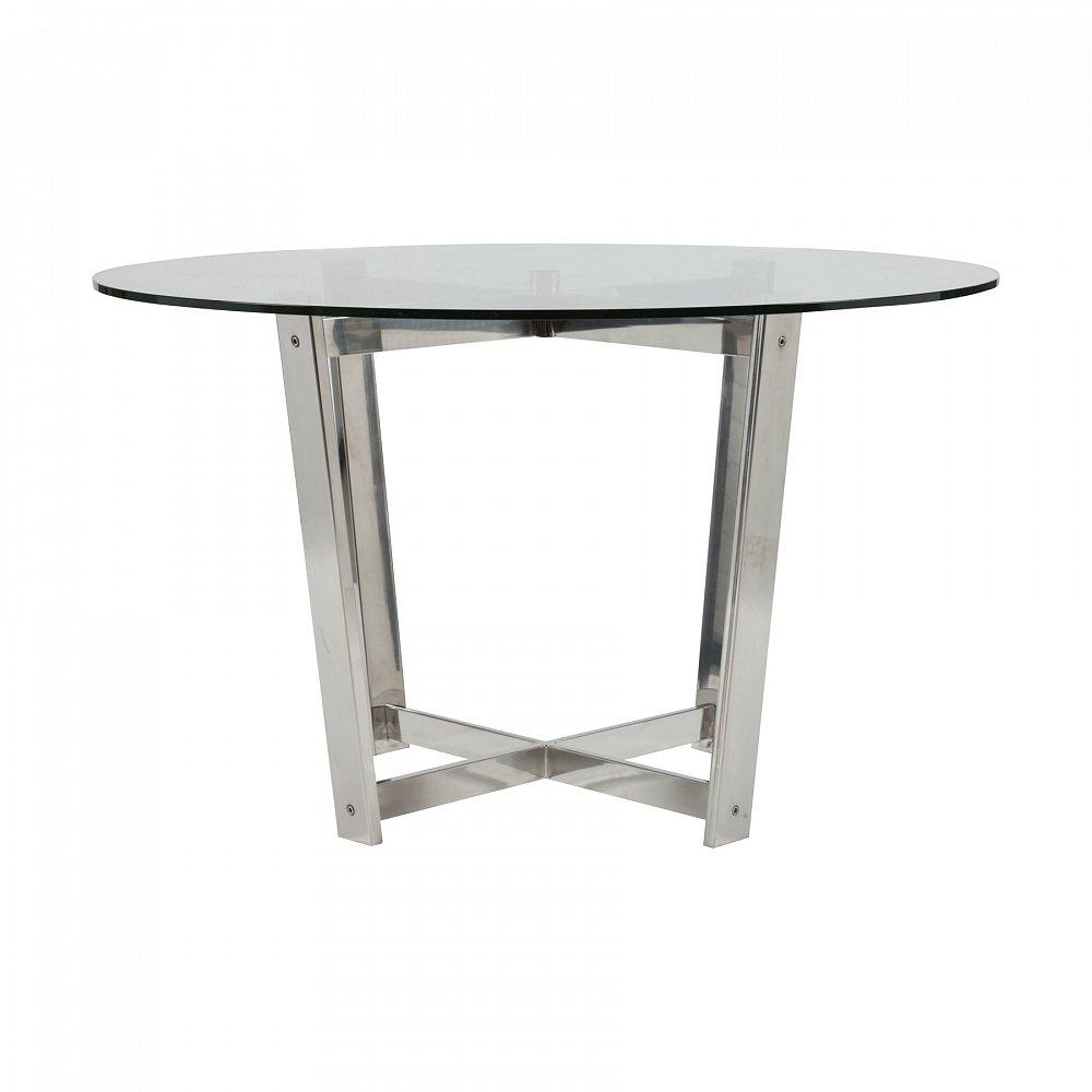 Стеклянный столик Kmarine DG-HOME Универсальный вариант для любого интерьера  — этот стильный журнальный столик! Стеклянный  столик Kmarine имеет оригинальное основание  из хромированного металла и столешницу  из толстого прозрачного стекла. Изделие  имеет легкий, воздушный вид, благодаря чему  оно идеально вольется практически в любой  интерьер, не забрав на себя излишнее внимание.  Столик Kmarine выполнен в современном стиле  и идеально впишется в интерьер вашего дома.
