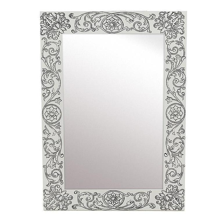 Зеркало в раме серого цвета