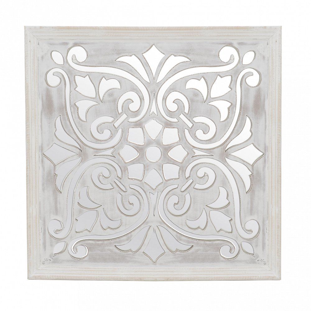 Декор-зеркало настенный серебристого цвета