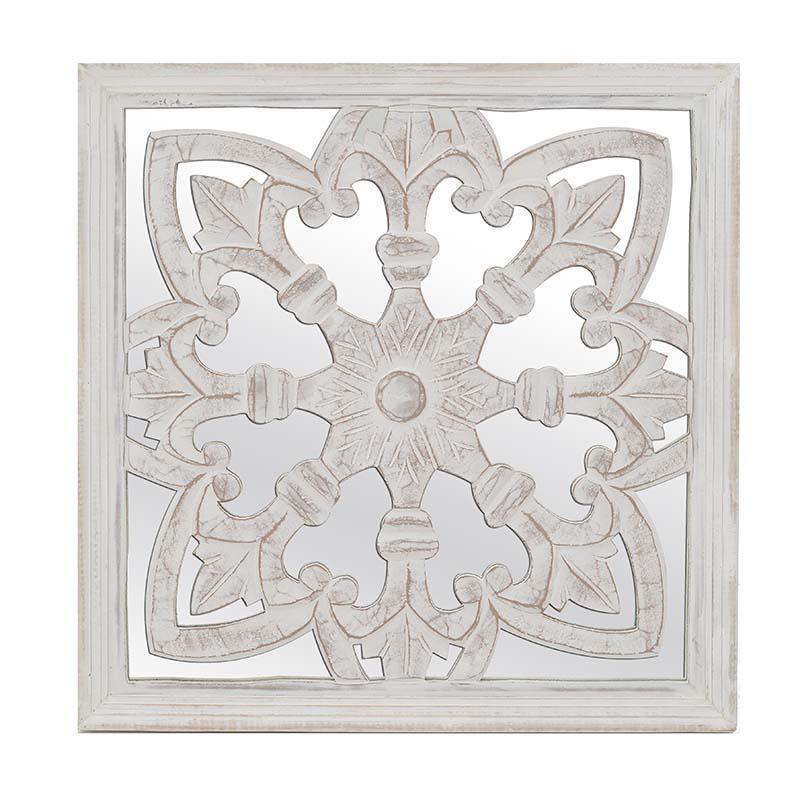 Декор настенный - зеркало серебристого цвета