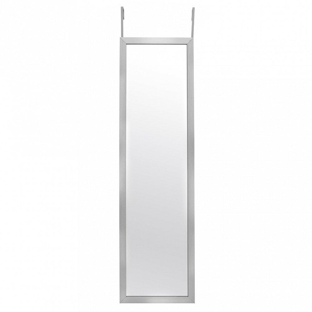 Зеркало узкое настенное в раме серебристого цвета