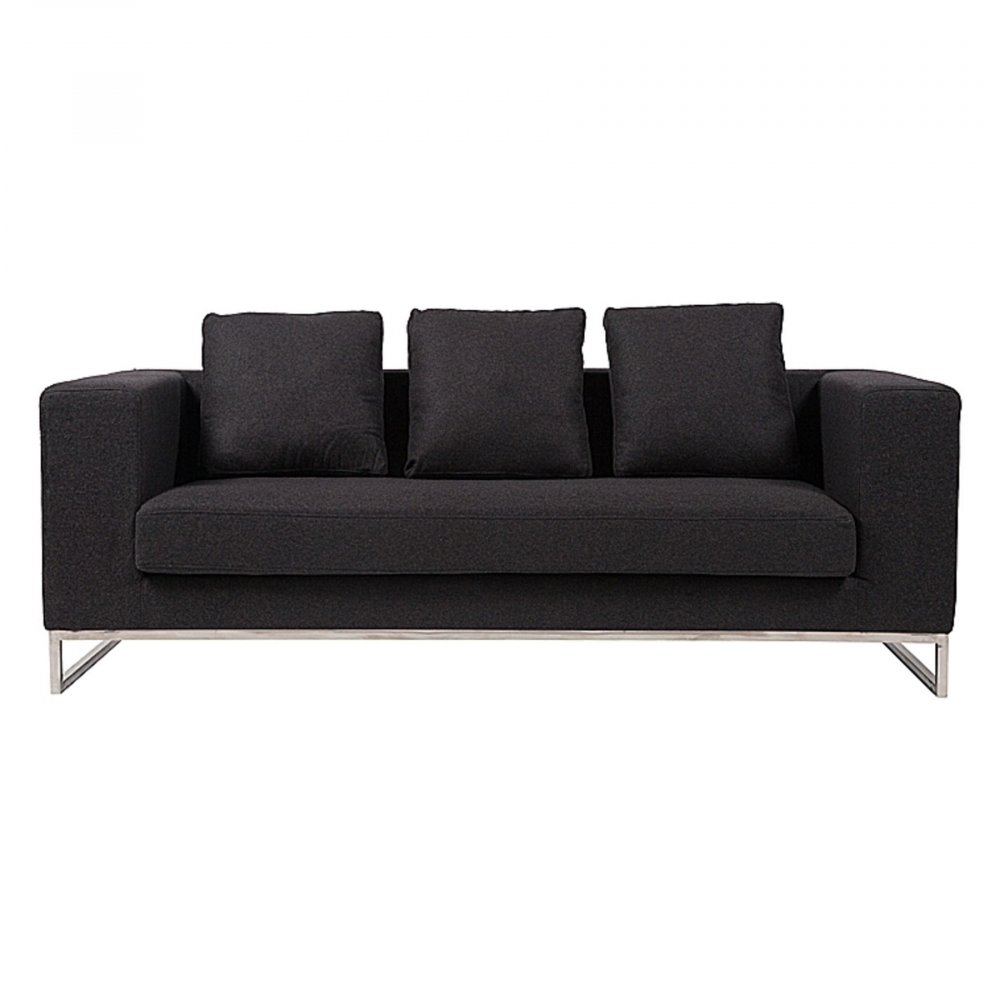 Диван Dadone Большой Темно-серый КашемирДиваны<br>Ничто не сможет лучше помочь в создании <br>уюта дома, чем удобный диван. Небольшой <br>уютный диван Dadone Sofa — это невероятно комфортный, <br>модный и довольно стильный от известного <br>итальянского дизайнера Антонио Читтерио <br>(Antonio Citterio). Он прибавит необычного шарма <br>и внесет особую теплоту вашему интерьеру. <br>Обивка дивана из кашемира благородного <br>темно-серого цвета — находка дизайнеров, <br>она дает возможность вписаться в современный <br>интерьер и классический. Основание, оно <br>же ножки, изготовлено в виде прочной рамы <br>из нержавеющей стали. Большие мягкие подушки <br>делают данную модель еще более оригинальной. <br>Обивка из нежного кашемира и дизайн позволяют <br>дивану украсить собой современный или классический <br>интерьер, а мягкие подушки дают вам возможность <br>расслабиться с комфортом после трудного <br>рабочего дня. Выберите в нашем магазине <br>высококачественную реплику дивана из коллекции <br>Dadone для комнаты в современном городском <br>стиле: лофт, минимализм, хай-тек.<br><br>Цвет: Серый<br>Материал: Ткань, Поролон<br>Вес кг: 63<br>Длина см: 184<br>Ширина см: 70<br>Высота см: 68