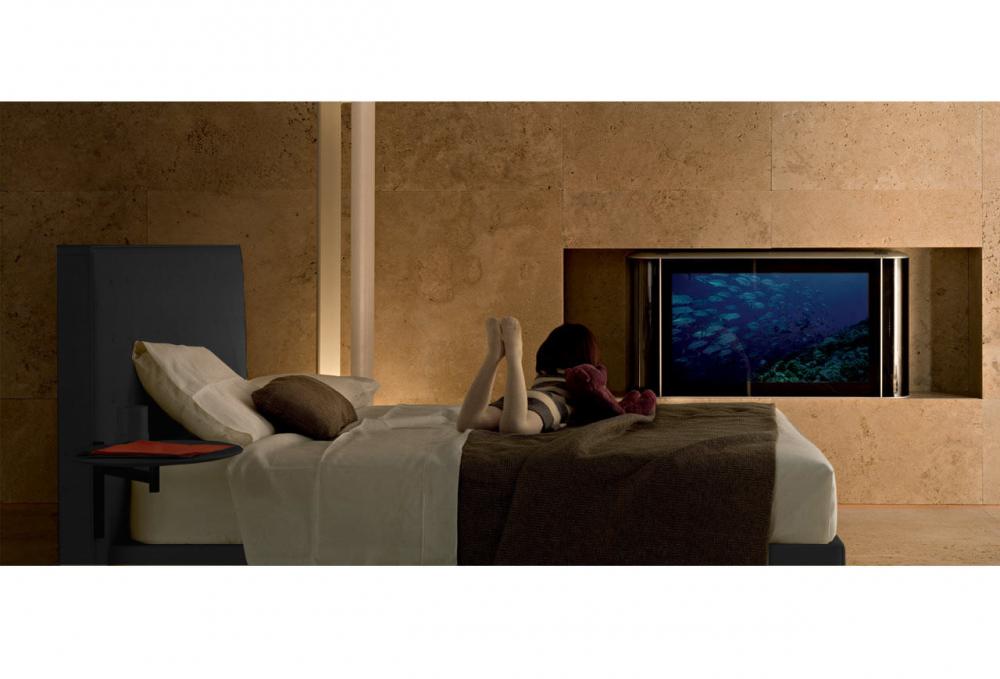 Кровать Knoff Grande 180х200 Тёмно-серый Кашемир