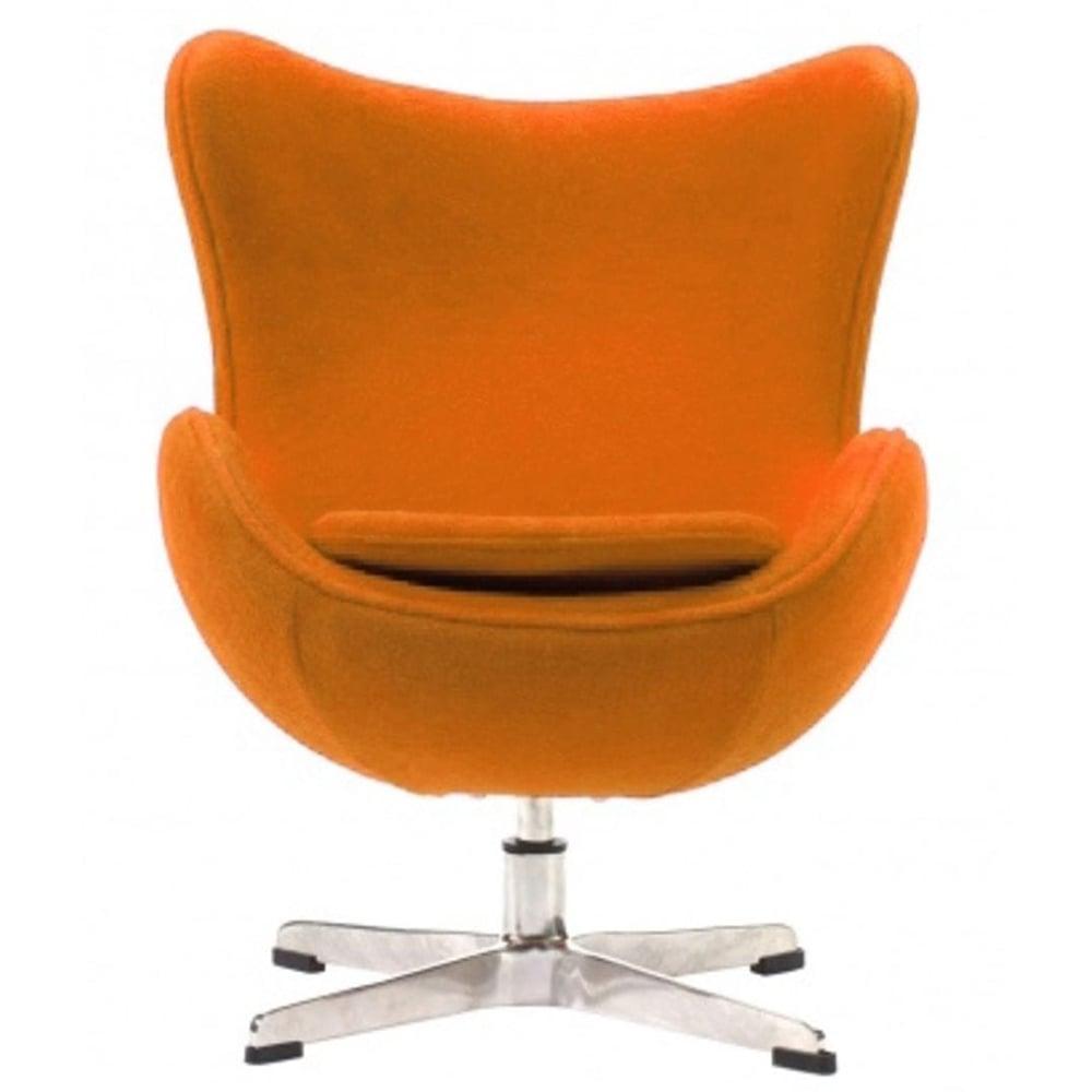 Фото Детское кресло Egg Chair Оранжевое 100% Шерсть. Купить с доставкой