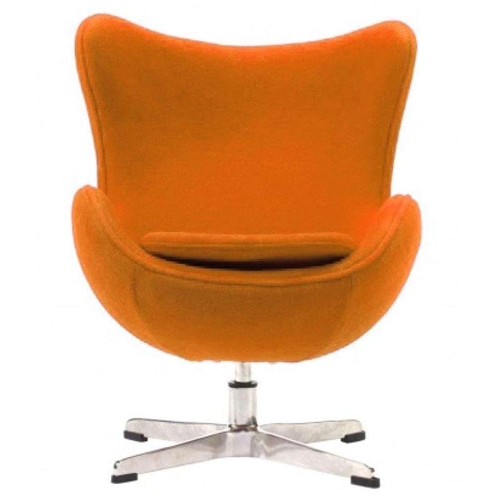 Купить Детское кресло Egg Chair Оранжевое 100% Шерсть в интернет магазине дизайнерской мебели и аксессуаров для дома и дачи